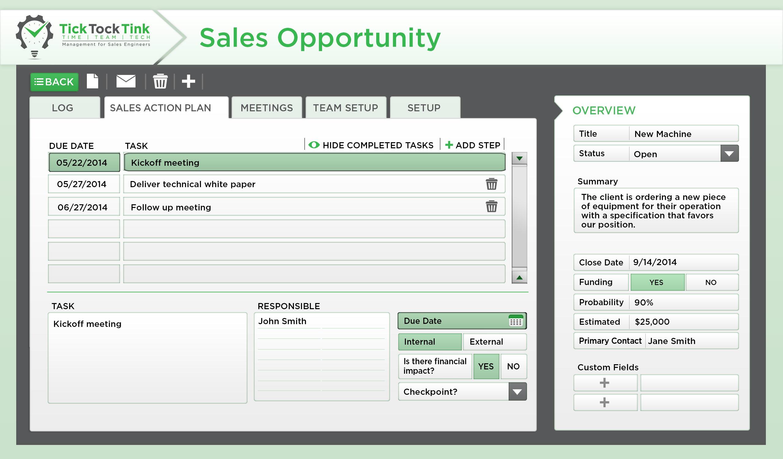 step 2 develop a sales plan tick tock tink